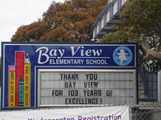 Bay View School Bye