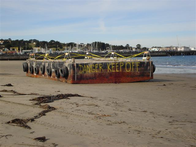 Beached Barge 1