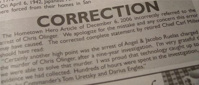 Bulletin Error Correction