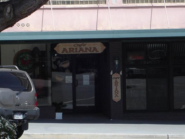 Cafe Ariana Closed