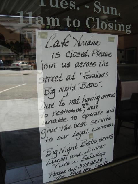 Cafe Ariana Restroom Excuse