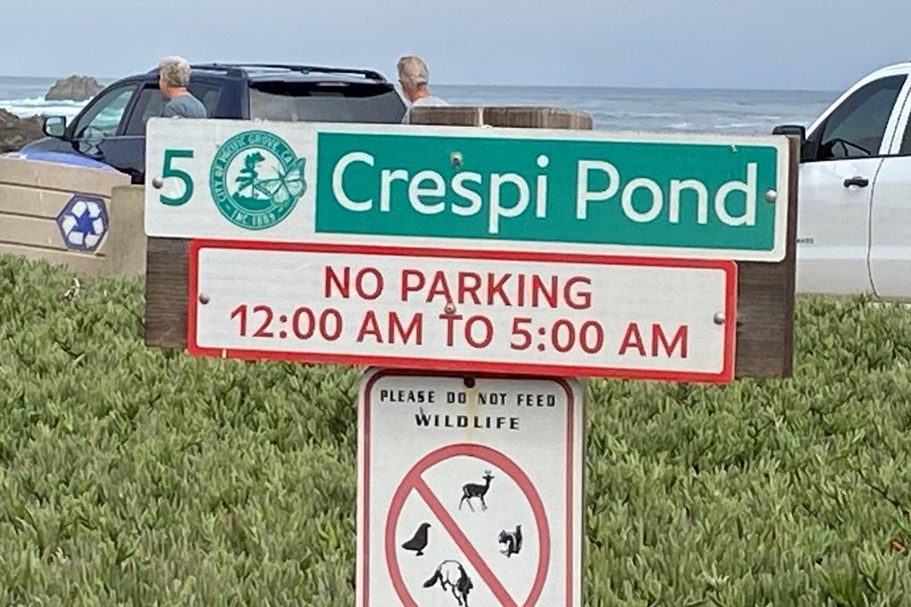 Crespi Pond Sign