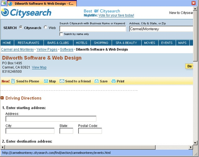 Dilworth Software Design