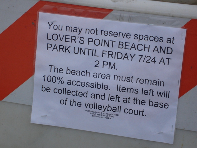 Feast Of Lanterns Beach Reserve Sign