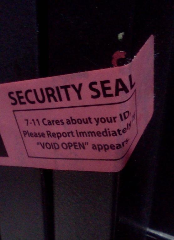 Gas Pump Security Seal