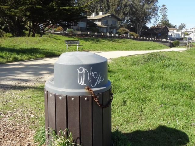 Graffiti Trash Can
