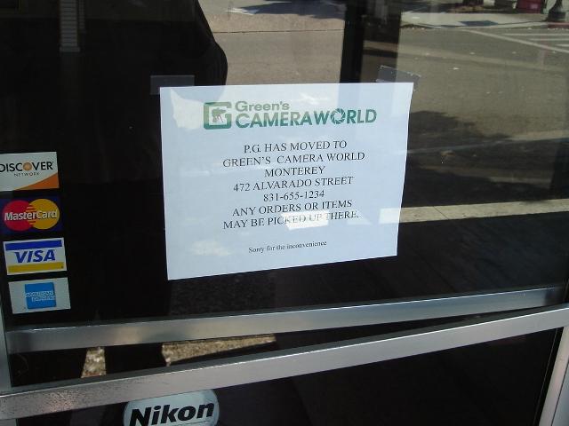 Greens Camera Closed
