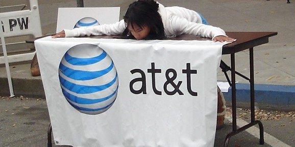 Holding The ATT Banner