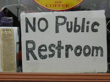 Ice Cream Shoppe No Public Restroom