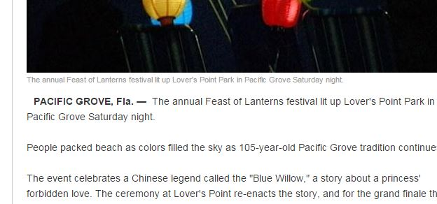 KSBW Moves Feast Of Lanterns To Florida