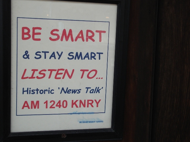 Kmby 1240 KNRY Be Smart Sign