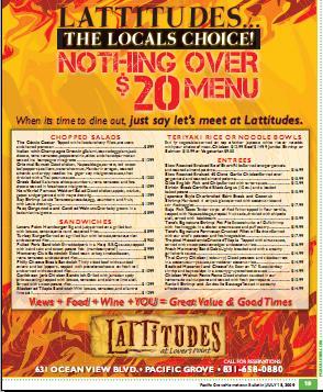 Lattitudes menu