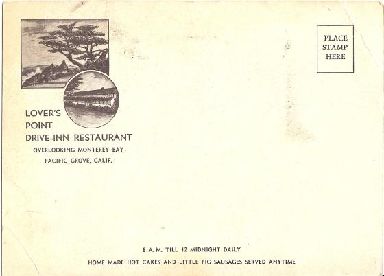 Lovers Point Drive Inn Post Card