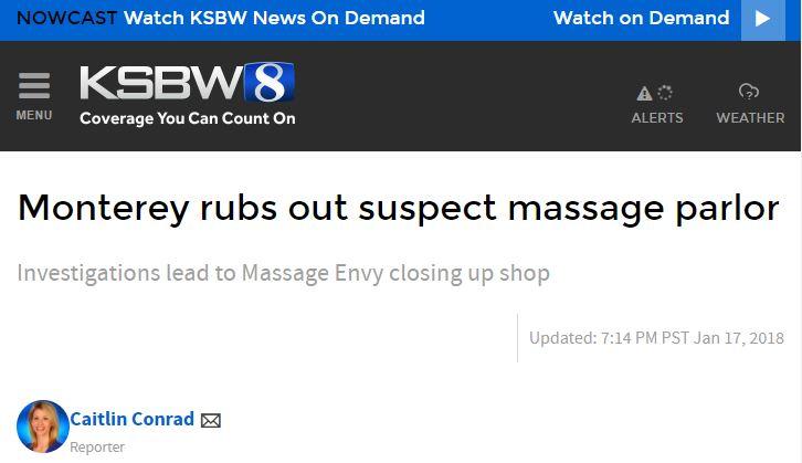Monterey rubs out suspect massage parlor