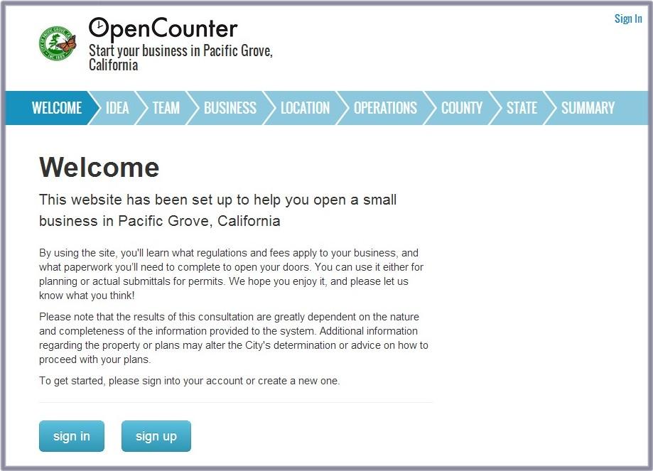 Open Counter