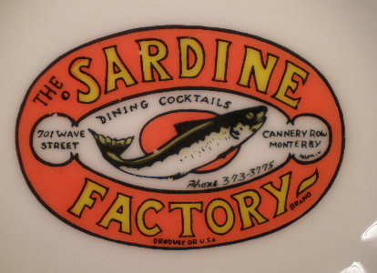 Sardine Factory ashtray Close