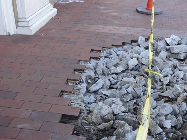 Sidewalk Brick Veneer