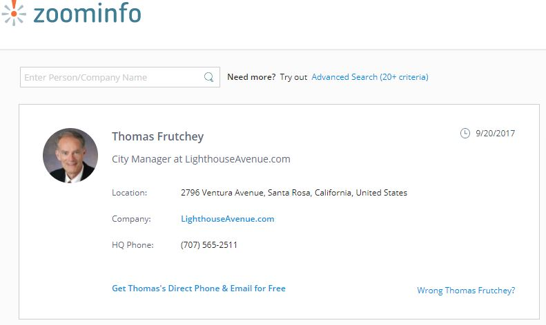 Zoominfo Thomas Frutchey Manager LHA